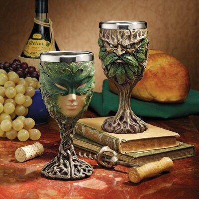 Forest Spirits Greenman 2-Piece Goblet Set