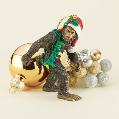 Design Toscano Bigfoot the Holiday Yeti Holiday Ornament