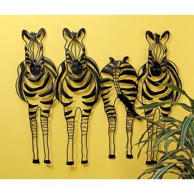 Design Toscano Static Stripes Sculptural Zebra Wall Frieze