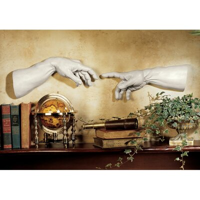Design Toscano The Creation Wall Sculpture in Ancient Stone (Set of 2)