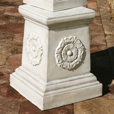 English Rosette Garden Sculptural Grand Plinth