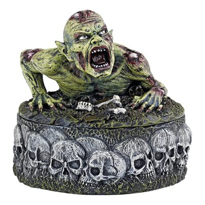 Design Toscano Zombie Skull Cauldron Box