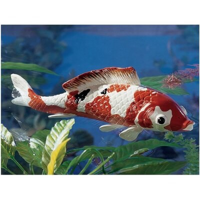 Design Toscano Japanese Floating Koi Large Sculpture