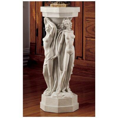 Design Toscano Maenads Sculpture Pedestal Plant Stand