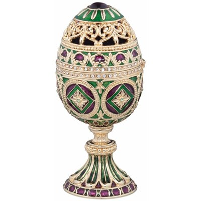 The Emerald Collection Faberge-Style Enameled Minishka Egg