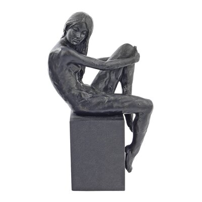 Design Toscano Visions of Monique Nude Female Holding Knee Studies Statues