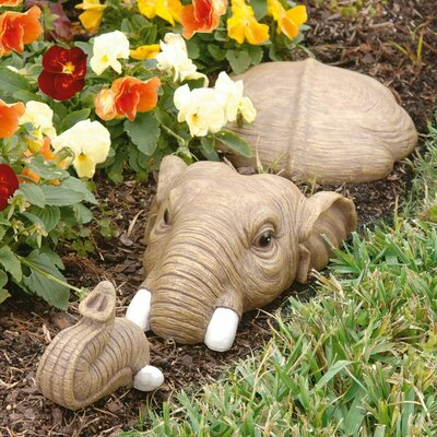 Design toscano in for a swim elephant lawn statue for Lawn ornaments for sale