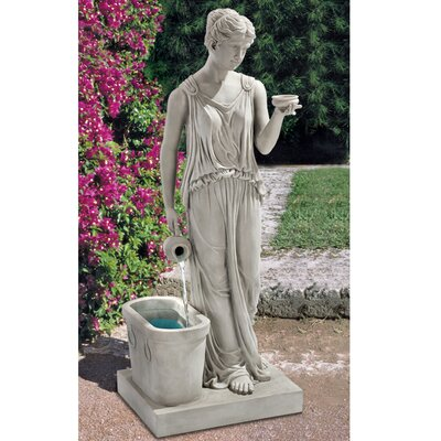 Design Toscano Resin Hebe, Goddess of Youth Garden Fountain
