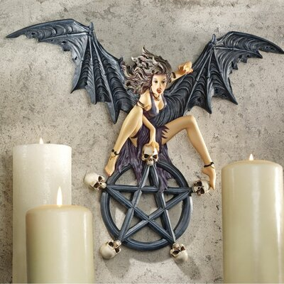Design Toscano Temptress Traci Pentagram Wall Sculpture (Set of 2)