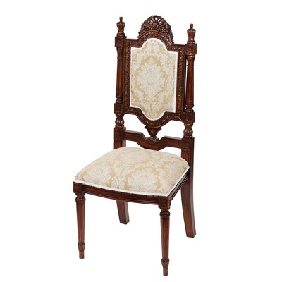 Design Toscano Salon des Rosiers Fabric Side Chair