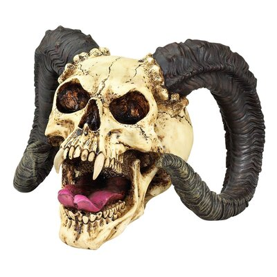 Design Toscano The Skull of the Horned Beast Sculpture