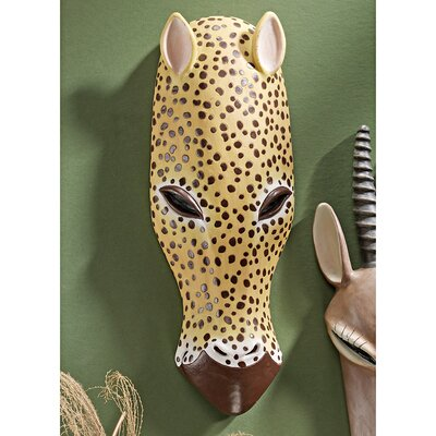 African Serengeti Tribal-Style Animal Wall Mask Jaguar