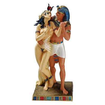 Royal Embrace Egyptian Pharaoh and Queen Statue