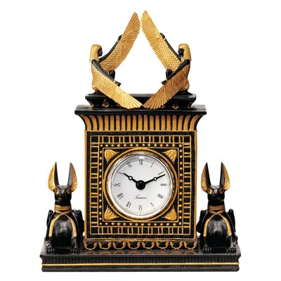 Design Toscano Anubis Egyptian Revival Sculptural Clock