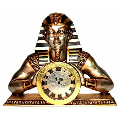 Design Toscano Temple of Heliopolis Egyptian Mantle Clock Statue