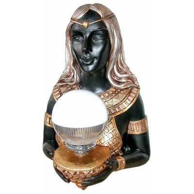 Design Toscano Grand Goddess Hathor Egyptian Statue Wall Lamp