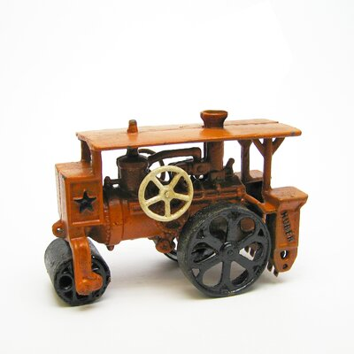 Design Toscano Steam Roller Replica Cast Iron Farm Toy Tractor