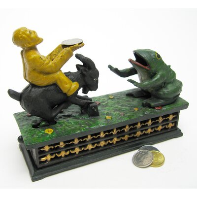 Frog and Goat Collectors' Mechanical Coin Bank Figurine