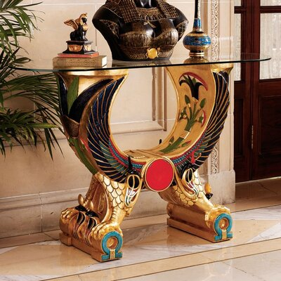 Egyptian Wings of Horus Grand Altar Console Table