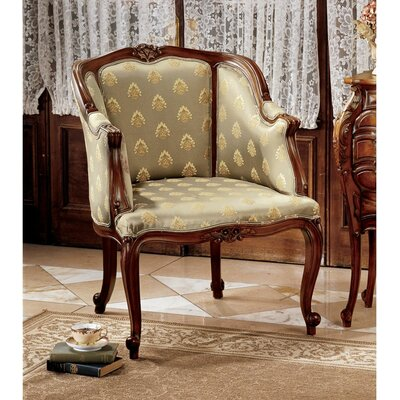 Design Toscano Kingsbury English Tub Fabric Arm Chair