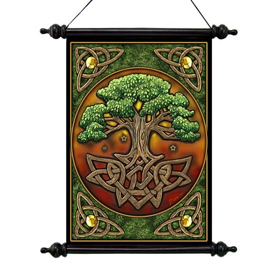 Design Toscano Tree of Life Canvas Wall Scroll Tapestry
