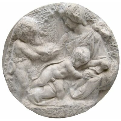 Direct Casting of The Virgin and Child with the Infant St. John Wall Sculpture