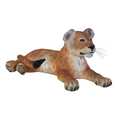 The Grand - Scale Wildlife Animal Lying Down Lion Cub Garden Sign