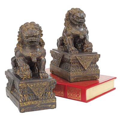 Design Toscano Chinese Guardian Lion Foo Dog Statue (Set of 2)