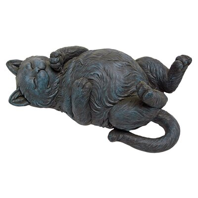 Design Toscano Playful Cat on Back Statue
