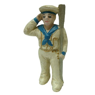 Saluting Sailor Still Action Coin Bank Figurine
