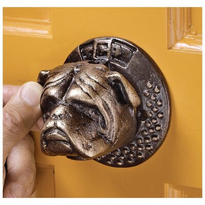 Design Toscano Bulldog Authentic Foundry Iron Door Knocker Reviews Wayfair