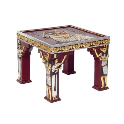 Design Toscano Egyptian Temple of Khafre Ornamental End Table