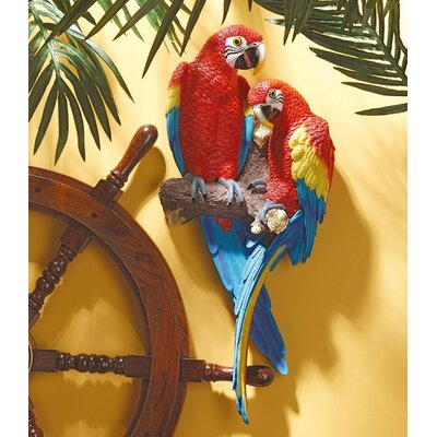 Tropical Scarlet Macaws Wall Decor