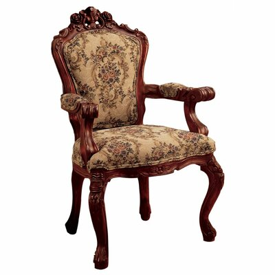Carved Rocaille Fabric Arm Chair