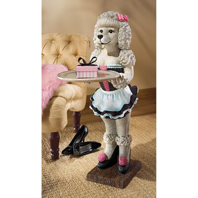 Design Toscano Coco, the Parisian Poodle Serving Table Statue