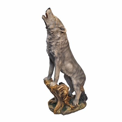 design toscano howling lone wolf garden statue reviews