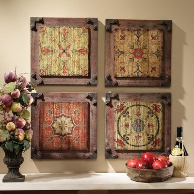 Design Toscano Florentine Floral Wood Wall Panel