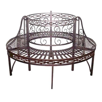 Design Toscano Premier Circular Wrap around Metal Garden Tree Bench