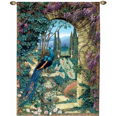 The Peacock's Garden Wall Tapestry