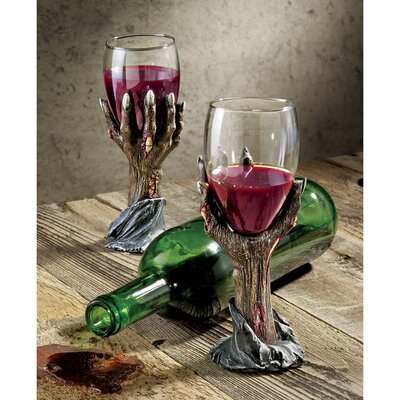 Design Toscano Toast of the Zombie Sculptural Goblet