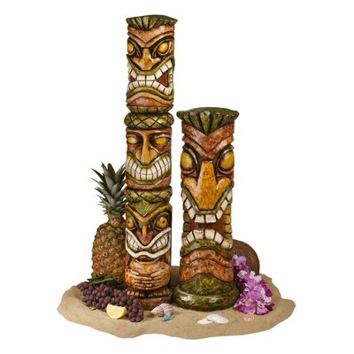 Aloha Hawaii Tiki Statue (Set of 2)
