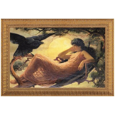 Design Toscano The Night Raven Sings by John Scott Framed Painting Print