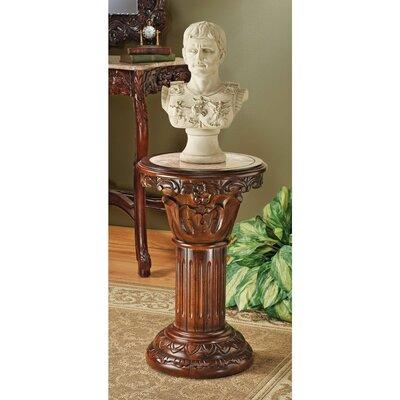 Design Toscano Imperia Inlaid Pedestal Plant Stand