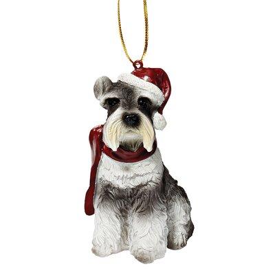 Design Toscano Mini Schnauzer Holiday Dog Ornament Sculpture