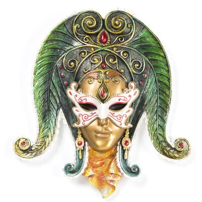 Maidens of Mardi Butterfly Maiden Gras Wall Mask Sculpture