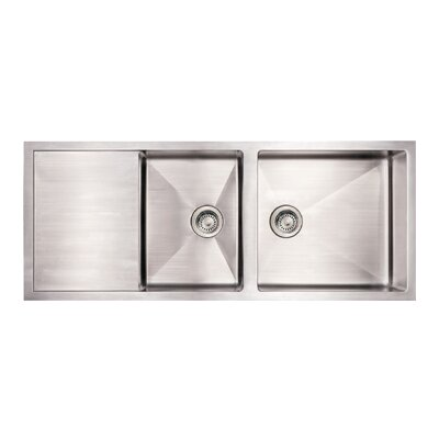 Noah 39 S X 21 Commercial Double Bowl Drop In Kitchen Sink Wayfair