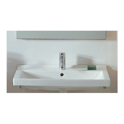 China Rectangular Wall-Mount Bathroom Sink - LU024-WH