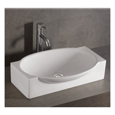 "Whitehaus Collection Isabella 23.63"" x 16"" Single Bowl Bathroom Vessel Sink"