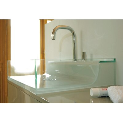 Aeri Vetro Glass Above Mount Bathroom Sink - AELVE55