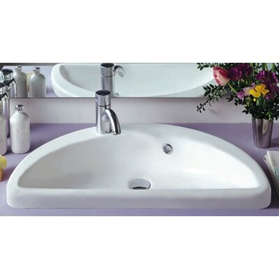 China Mezza Luna Half Circle Bathroom Sink with Overflow - LU061